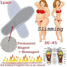 2pcs Far Infrared Self-heating Shoe Insoles Magnetic Therapy Anti-fatigue Massage Tourmaline Insole