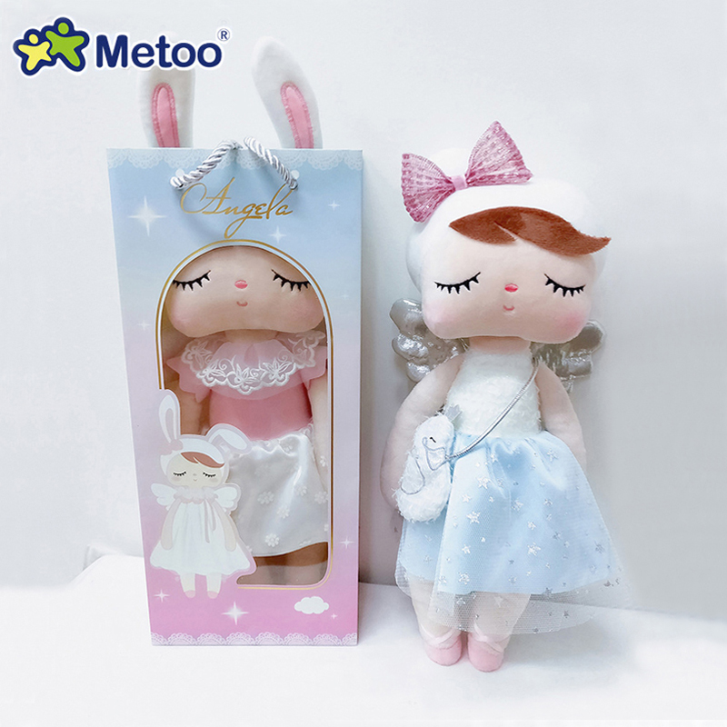Hot Metoo Doll Plush Toys For Girl Baby Beautiful Cute Angel Angela Soft Stuffed Animals For Kids 【Original Boxes】