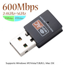 Hot USB WiFi Adapter 2.4GHz 5GHz 600Mbps WiFi Antenna Dual Band 802.11b/n/g/ac Mini Wireless Computer Network Card Receiver