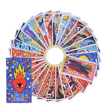 Karty tarota Del Fuego na pokład Oracles elektroniczny przewodnik książki gry zabawki tanie i dobre opinie CN (pochodzenie)
