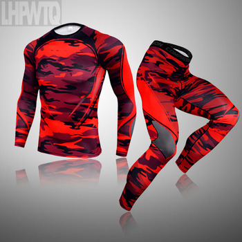 3-piece sets Compression Suits Men's Quick Dry set Clothes Sport Running MMA jogging Gym work out Fitness Tracksuit clothing 20