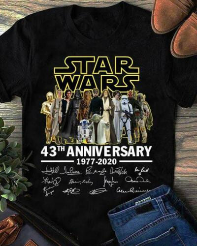 Star Wars 43th Anniversary 1977-2020 Men T-Shirt S-3XL Black