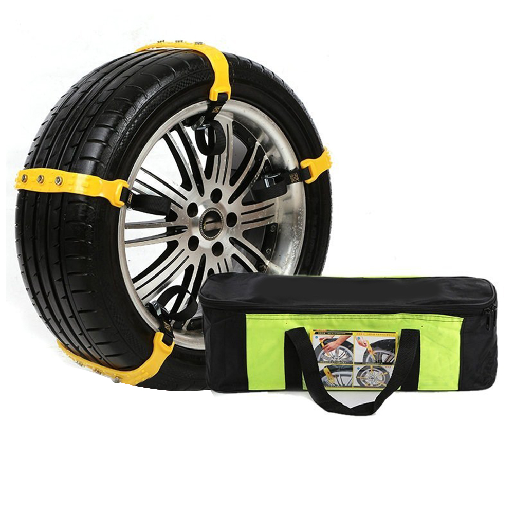 5Pcs Auto Tire Snow Chains TPU Anti-Skip Belt Safe Driving For Snow Ice Sand Muddy Offroad For Most Car SUV VAN Wheel Sep20 image