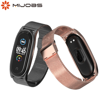Cinghie di metallo per Xiaomi Mi Banda 5 4 3 Senza Viti In Acciaio Inox di Smart Watch Band per Mi Band 5 4 3 cinghia Miband 3 4 5 Braccialetto