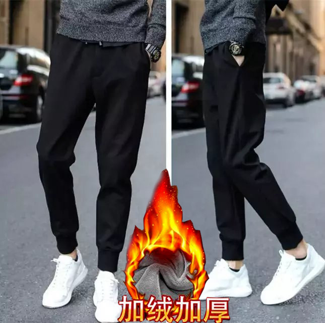 2018 Autumn & Winter Elasticity Students Loose-Fit Athletic Pants Fashion Slimming Harem Pants Men's Korean-style Casual Sweatpa