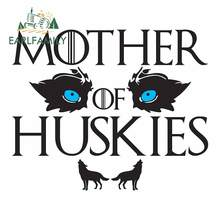 EARLFAMILY 13cm x 11cm For Mother of Huskies Repair Car Stickers Vinyl Material Decal Car Accessories DIY Occlusion Scratch