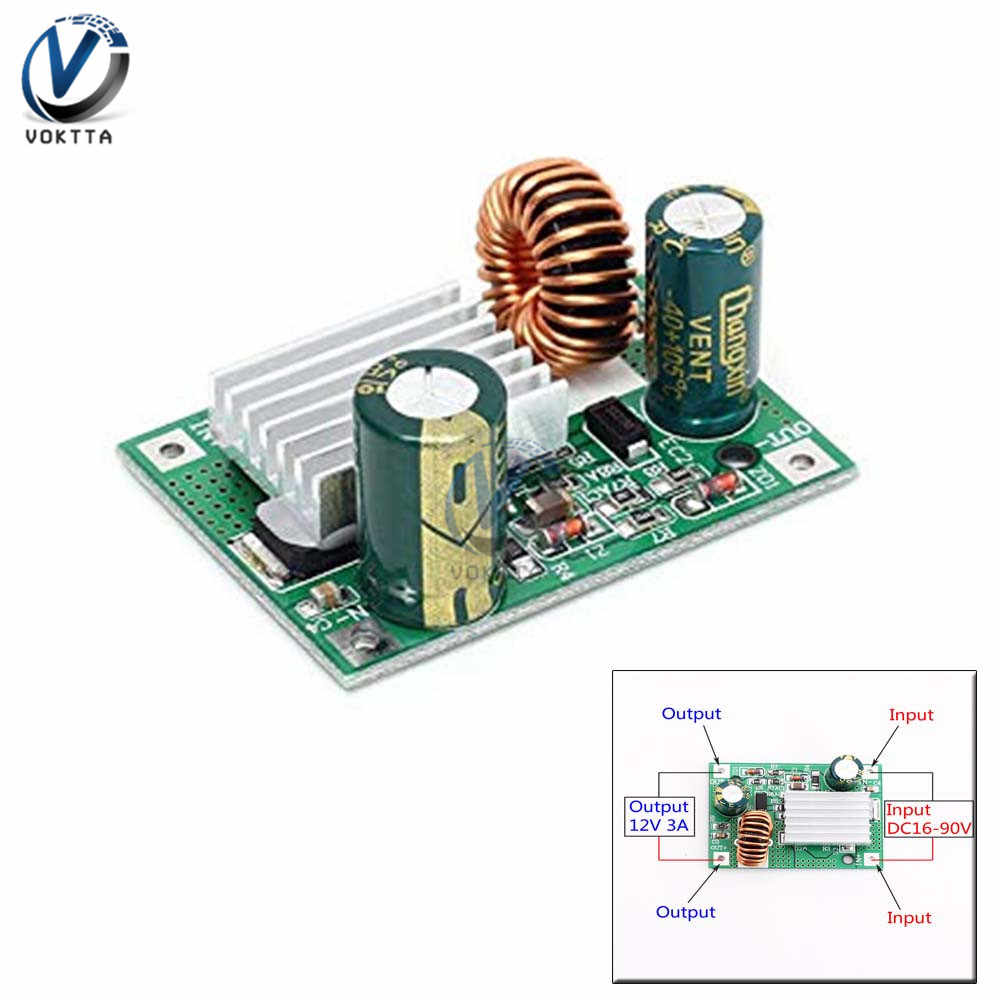 DC//DC Converter Regulator 30-90V Stepdown to 12V 3A 36-60W Module Power