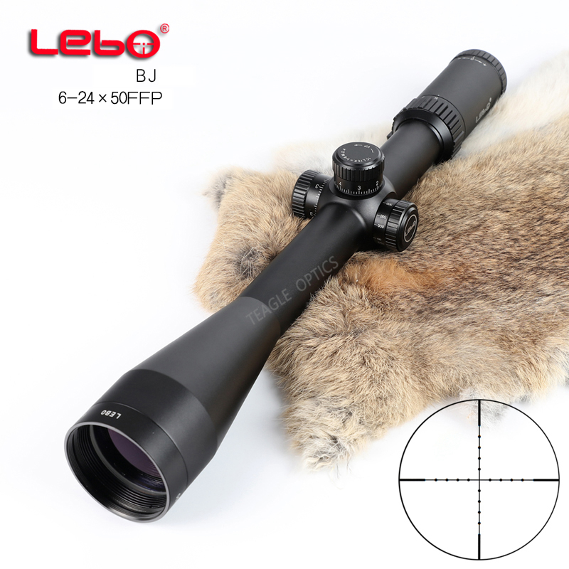 Hunting Riflescope Optical Sight BJ 6-24x50 FFP Tactical Riflescope With Mil Dot Reticle With Illumination Rifle Scope
