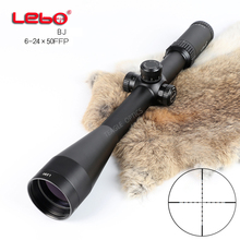 цены Hunting Riflescope Optical Sight BJ 6-24x50 FFP Tactical Riflescope with Mil Dot Reticle with Illumination Rifle scope