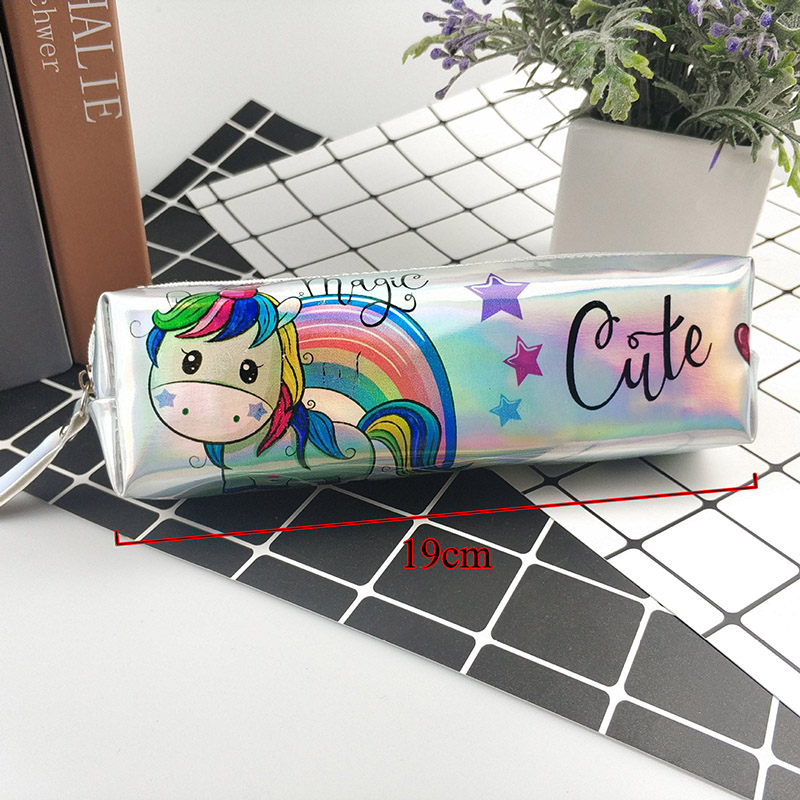 Cartoon Unicorn Pencil Case Glitter Pencil Bag School Pen Bag Box For Girls Office Supplies Kawaii Stationery Back To School