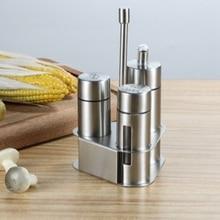 Bottle-Set Oil-Salt-Vinegar-Storage Kitchen-Tools Seasoning Stainless-Steel for 1set