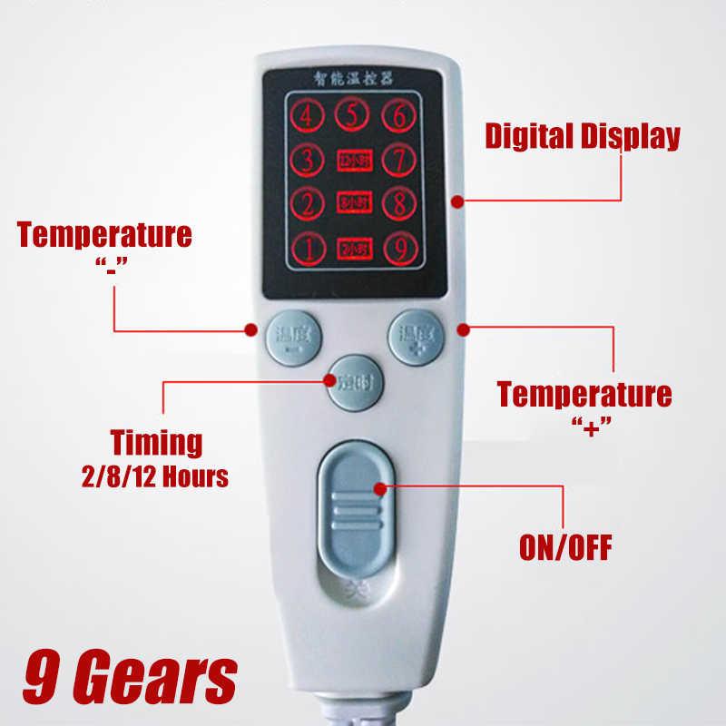 Mudah Dicuci Waktu Selimut Listrik 110 V-220 V Tahan Air Suhu Adjustable Hangat Pemanas Tempat Tidur USB Penghangat Ruangan Pad Mat Double single