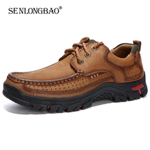 New 100% Genuine Leather Loafers Men Moccasin Sneakers High Quality Men