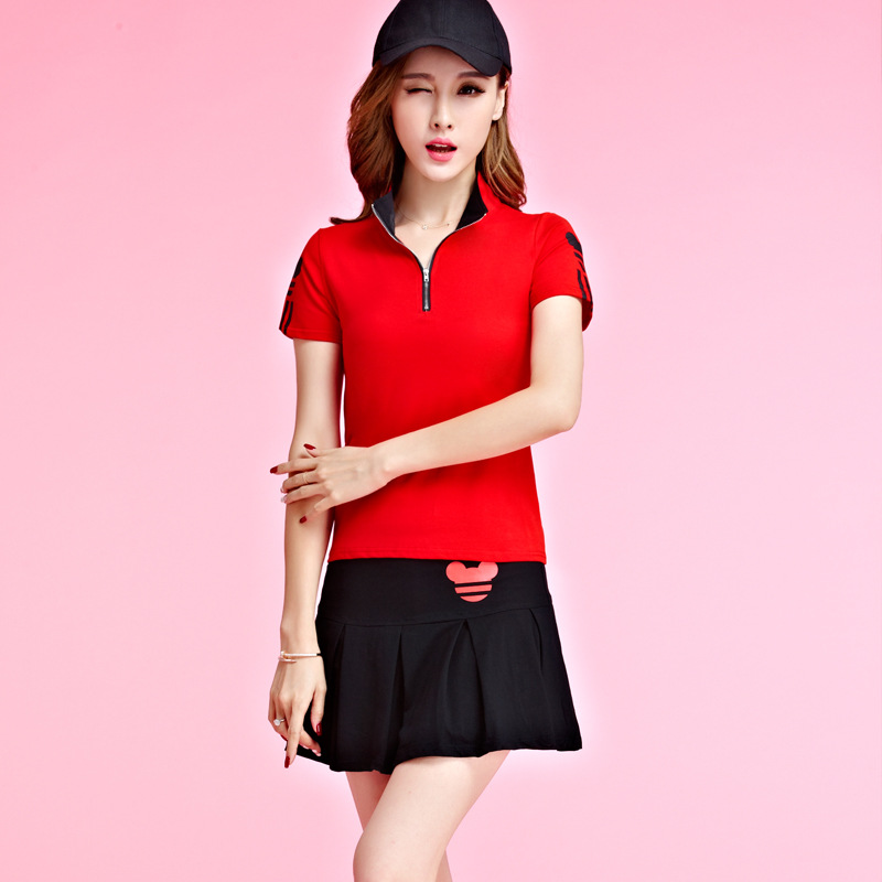 2017 Summer Tennis Clothes New Style T-shirt Hoodie Sports Casual Suit Skirt Two-Piece Set
