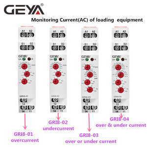 Image 5 - Free Shipping GEYA GRI8 01 Current Monitoring Relay Current Range 8A 16A AC24V 240V DC24V Overcurrent Protection Relay