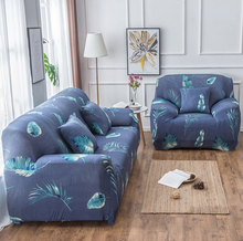 Flower Leaves Collection Stretch Sofa Cover for Living Room Armchair Sofa Slipcover Elastic Couch Cover Case 1 2 3 4 Seater