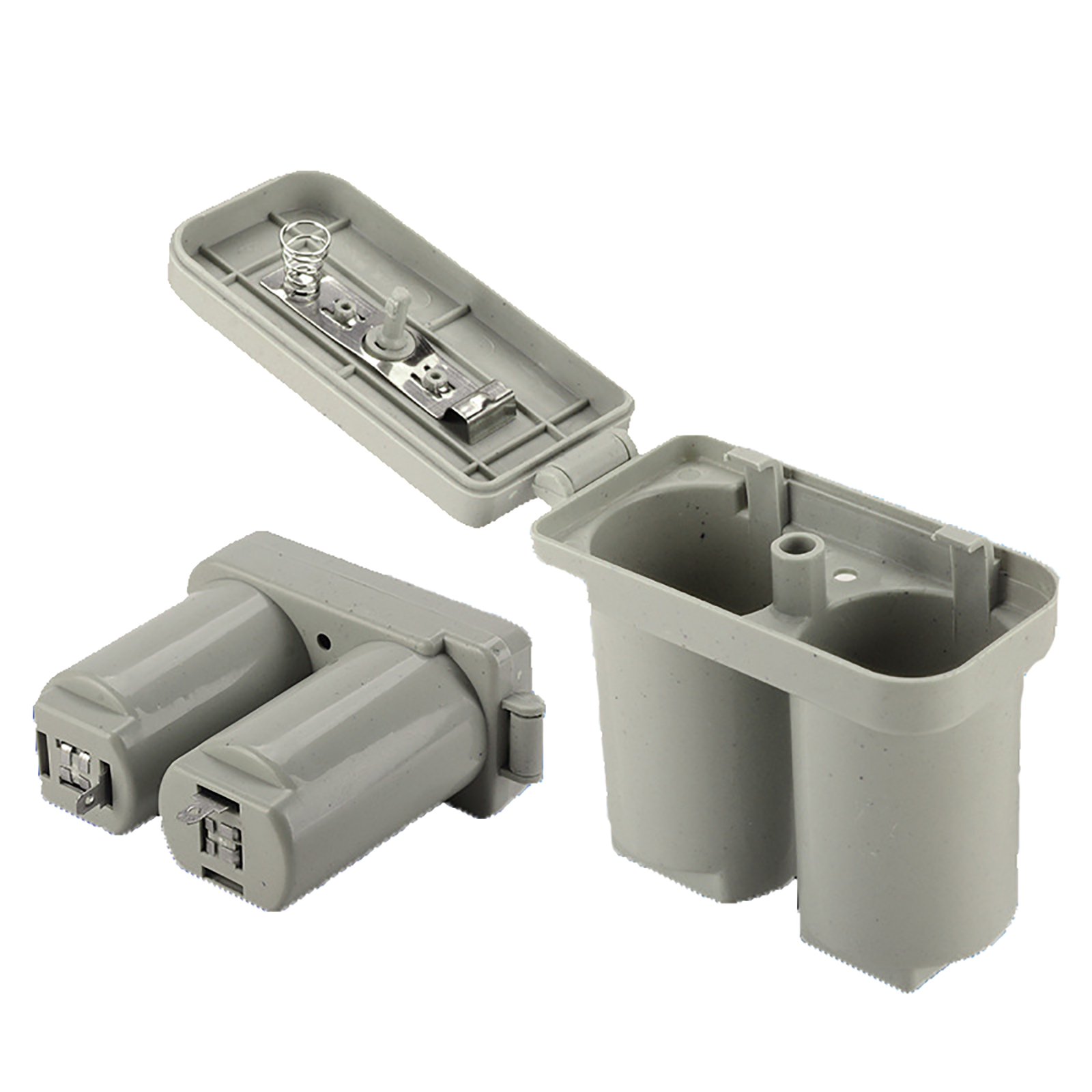 2PCS Double Battery Case Double Compartments Universal Battery Box For Gas Water Heater Accessories Dark Gray Plastic