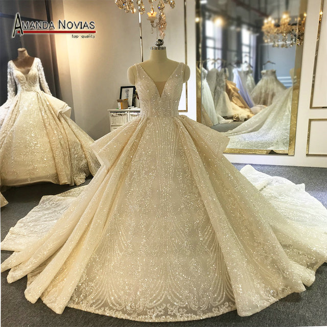 Amanda Novias Marke Hochzeit Kleid Fabrik Luxus Brautkleid