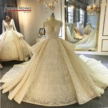 Amanda Novias brand trouwjurk fabriek directe verkoop luxe trouwjurk