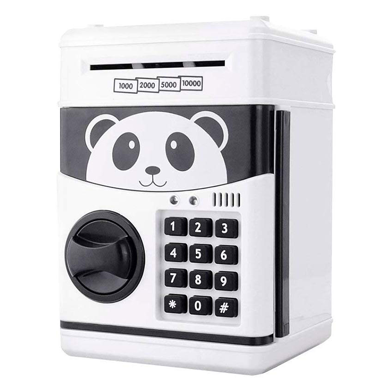 Cartoon Electric ATM Password Piggy Bank Safe Box Save Coin Cash Money Toys For Kids Children Lovely Panda