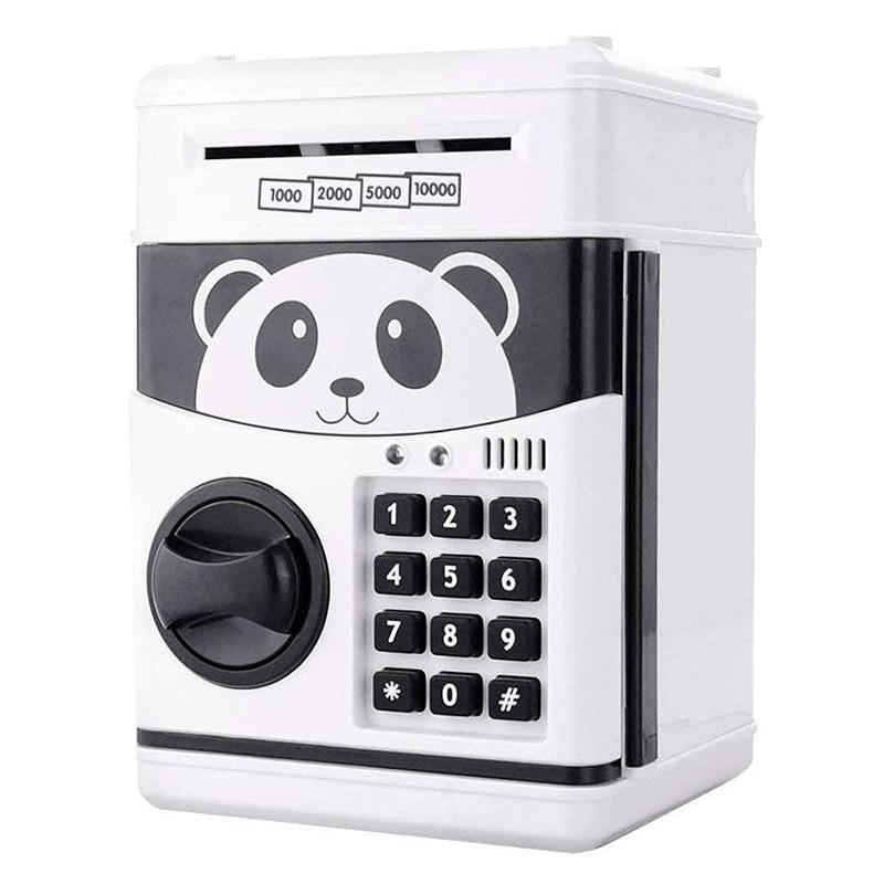 Cartoon Electric ATM Password Piggy Bank Safe Box Save Coin Cash Money Toys For Kids Children Lovely Panda