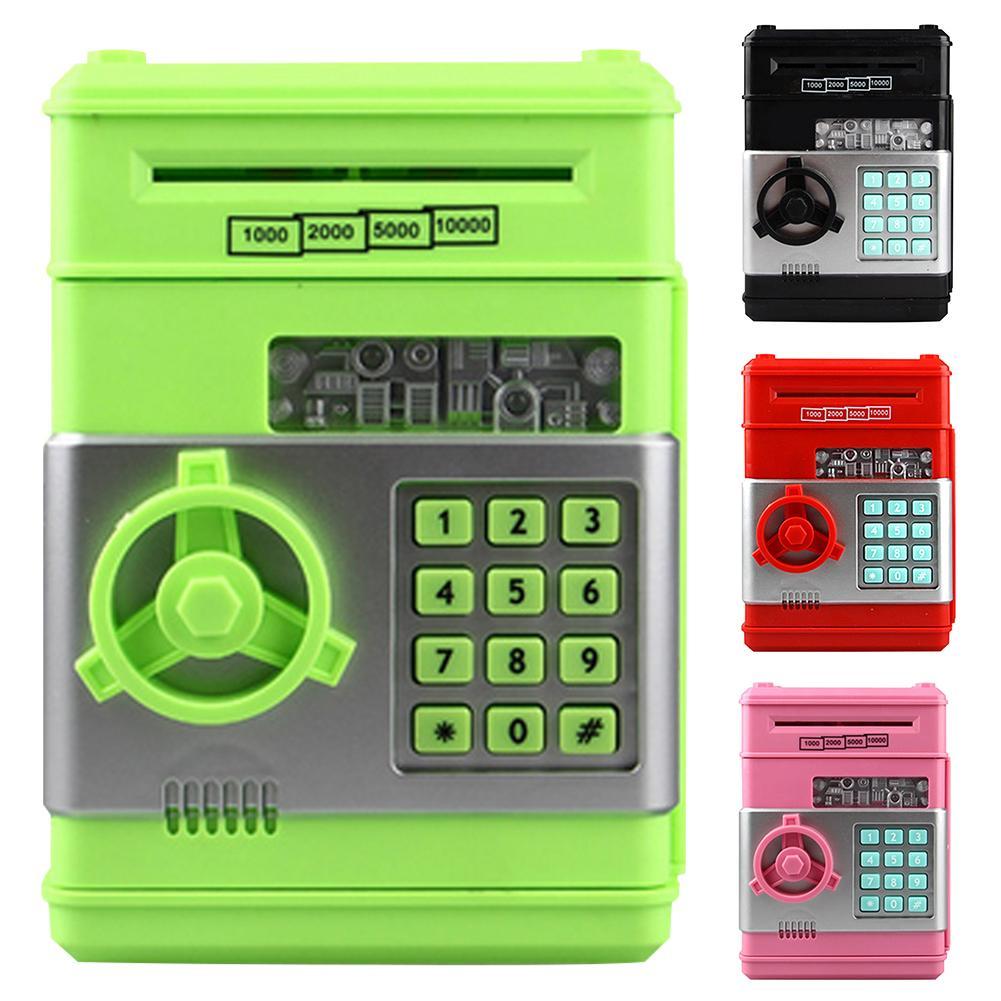 Money Saving Box Electronic Automatic Code Lock Deposit Banknote Password Saving Box Money Holder Container For Children Gift