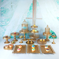 gold and whit wedding cake stand set 13 19 pcs cupcake stand barware decorating cooking cake tools bakeware set party dinnerware