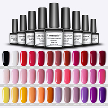 144 Colors Nail Gel Polish 8ML Hybrid Art Semi Permanent gel varnishes Soak Off Top White Lacquer