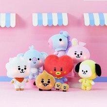 K-pop-muñecas de felpa de dibujos animados para niñas, juguetes de felpa brillantes, kawaii, animales, perros, conejos, koalas, regalos exquisitos