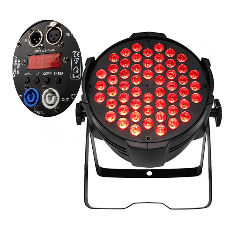 Lyre 54x9W RGB LED Par Light 3in1 DMX Stage Light Par Can For Party KTV Disco DJ Aluminum Alloy Club DJ Music Wash Spotlight