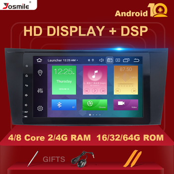 DSP 4GB 64G Android 10 Car Radio For Mercedes W211 W219 W463 CLS350 CLS500 CLS55 E200 E220 E240 E270 E280 Multimedia Navigation image