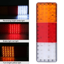 цена на 12V 75-LED Universal Tail Light Truck Trailer RV Boat Stop Rear Reverse Turn Indicator Lamp ABS Rectangle Tail Light