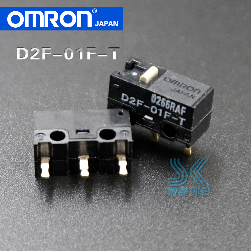 2pcs OMRON Mouse Microswitch D2F-01F-T Japan Suitable For SteelSeries Kinzu Kana Sensei Raw XAI MLG Sensei310 D2FC-F-7N 10M 20M