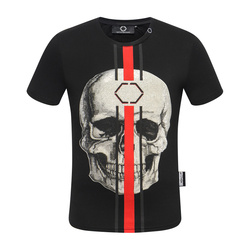 Starbags PP  Hot style short sleeved men's round collar T-shirt domineer personality high quality hot drill skull