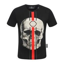 Starbags PP stile Caldo a maniche corte da uomo T-Shirt collare rotondo domineer di personalità di alta qualità trapano caldo del cranio