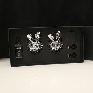 Image 4 - Mode Creatieve Schurk Konijn Patroon Gift Box Auto Luchtverfrisser Cool Car Vent Diffuser Parfum Geur Goede Geur Auto Geur