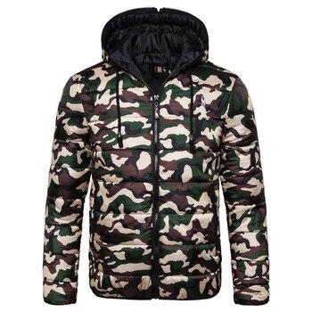 2019 New Waterproof Winter Jacket Men Hoodied Parka Men Warm Winter Coat Men Thicken Zipper Camouflage Mens Jackets 1