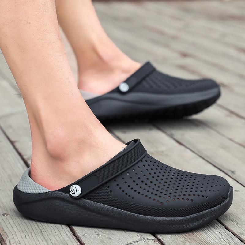 2020 New Arrival Croc Clogs Summer Shoes Unisex Summer Beach Sandals Men Crock Flat Hole Shoes Mans Swimming Slipper Sandalias