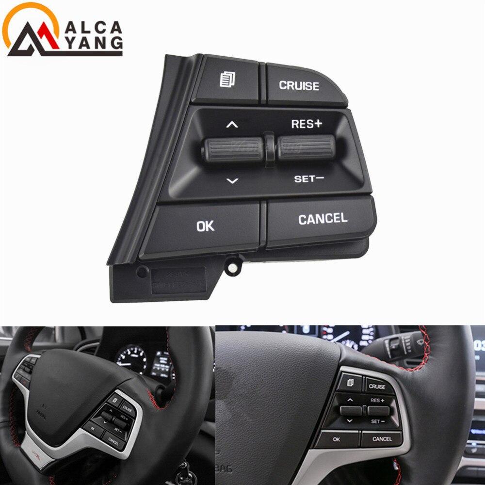 Кнопка рулевого колеса для Hyundai Elantra AD Solaris 2017 2018 л кнопки Bluetooth телефон круиз контроль громкость.