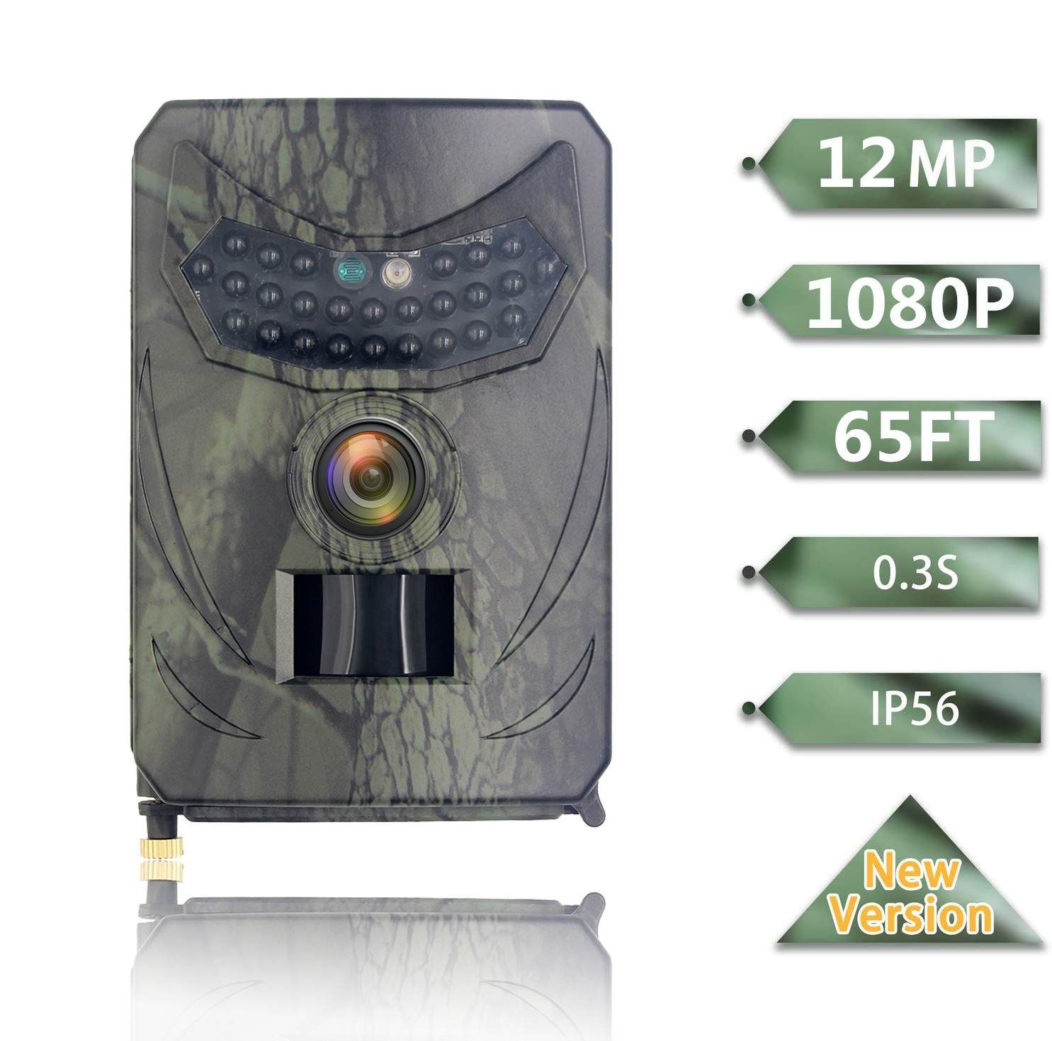 Outdoor 12MP 1080P Waterproof Hunting Camera Home Safety Farmwork Wildlife Night Vision Trail Photo Video Trap Scouting Game