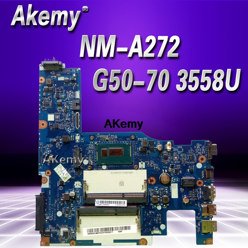 G50 70 laptop Motherboard for Lenovo G50 70 G50 70M Z50 70 motherboard ACLU1/ACLU2 NM A272 3558U CPU Test motherboard