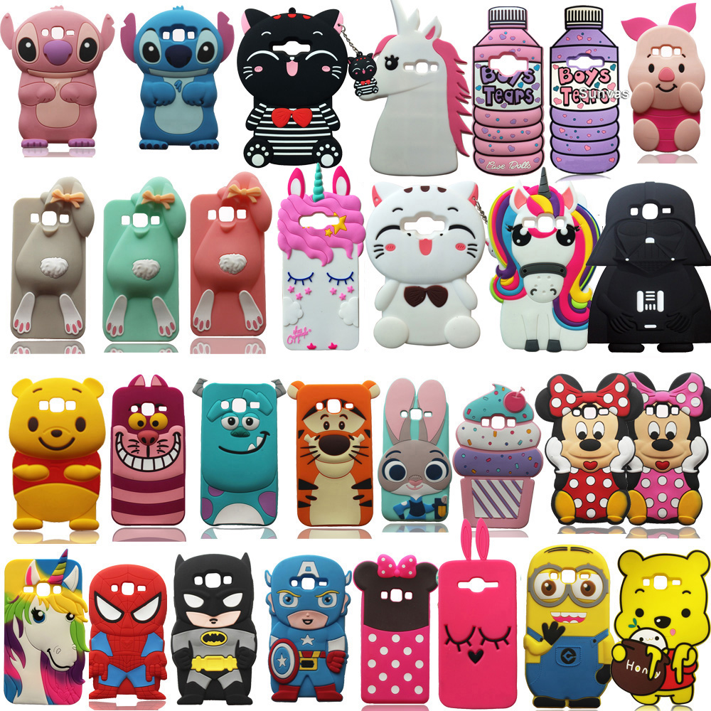 For <font><b>Samsung</b></font> Galaxy J3 J5 <font><b>J7</b></font> A5 A7 (2015) <font><b>3D</b></font> Cartoon Cute Soft Silicone Case Back Cover Skin For J3 J5 <font><b>J7</b></font> A5 A7 Phone Case Shell image