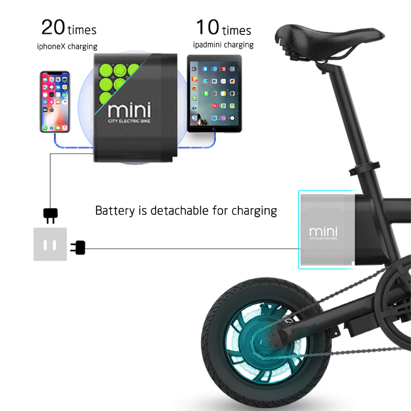 12 inch folding electric bicycle with LED displayer urban ebike 4