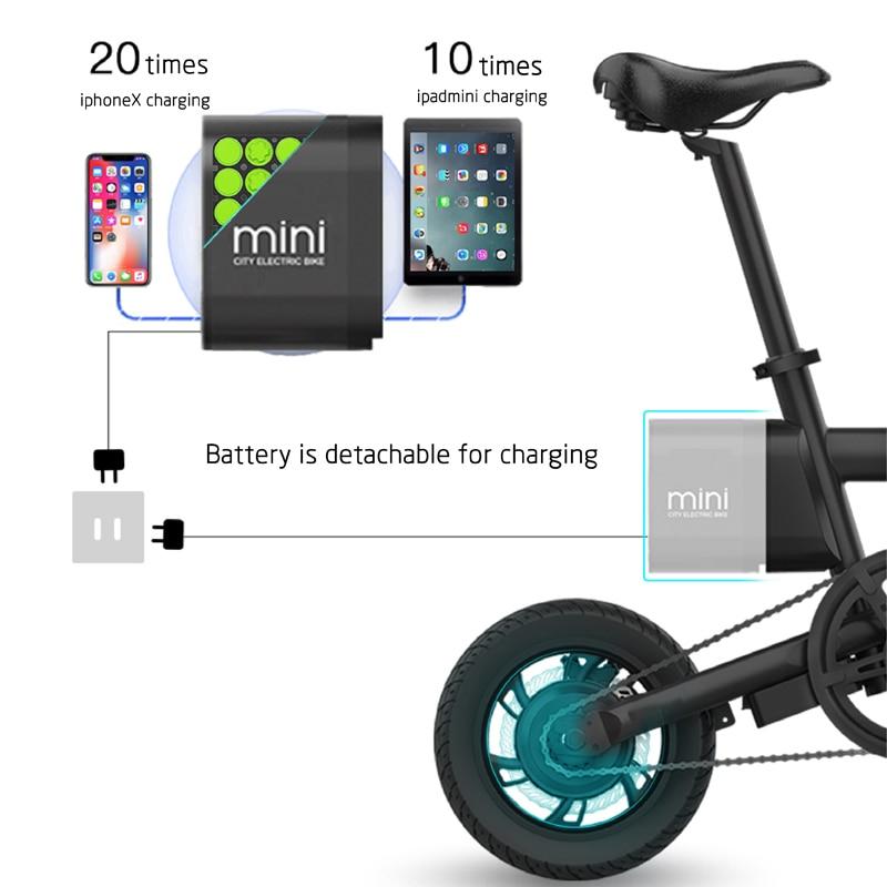 12 inch folding e bike adult mini foldable ebike city folding electric bicycle 5