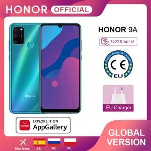 New Global Version Honor 9A Mobile Phones 3GB 64GB 6.3 inch Screen 13MP Triple Cams Fingerprint Facial Unlock Smartphone 5000mAh