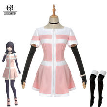 Rolecos anime akudama drive trapaceiro cosplay traje pessoa comum cosplay traje feminino uniforme rosa vestido de halloween conjunto completo