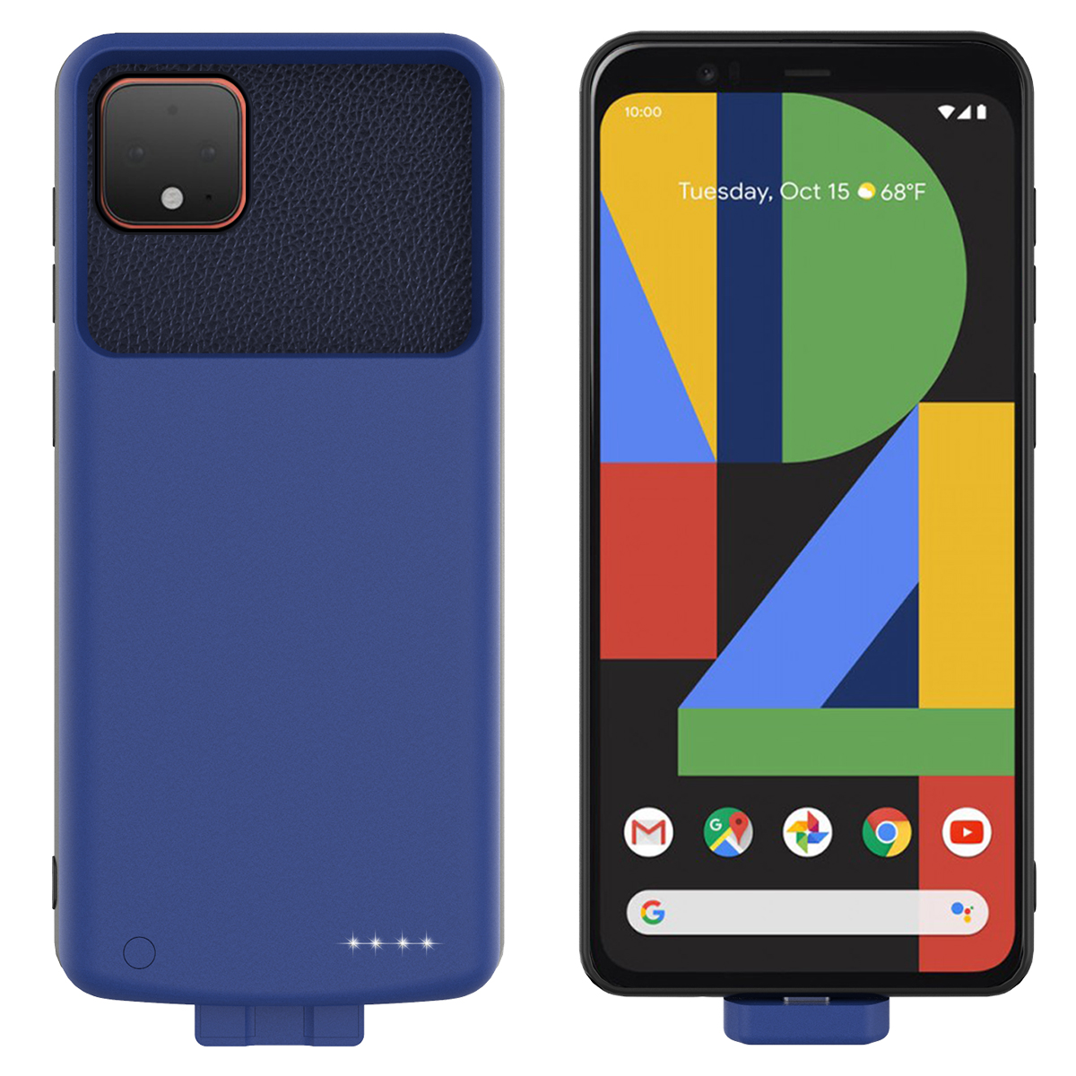 For Google Pixel 4 XL Battery Case 7000mAh Detachable Magnetic Silicon Backup Powerbank Charger Cover For Google Pixel 4 XL Case