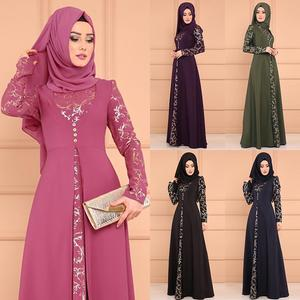 2019 new arrival Elegent Fashion Style Fake Two Pieces Muslim Women Plus Size Long Abaya S-5XL abaya femme musulman