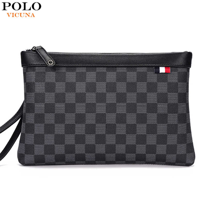 Vicuna Polo Merk Plaid Ontwerp Envelop Clutch Bag Leisure Clutch Portemonnee Mode Mannen Handtas Dropshipping