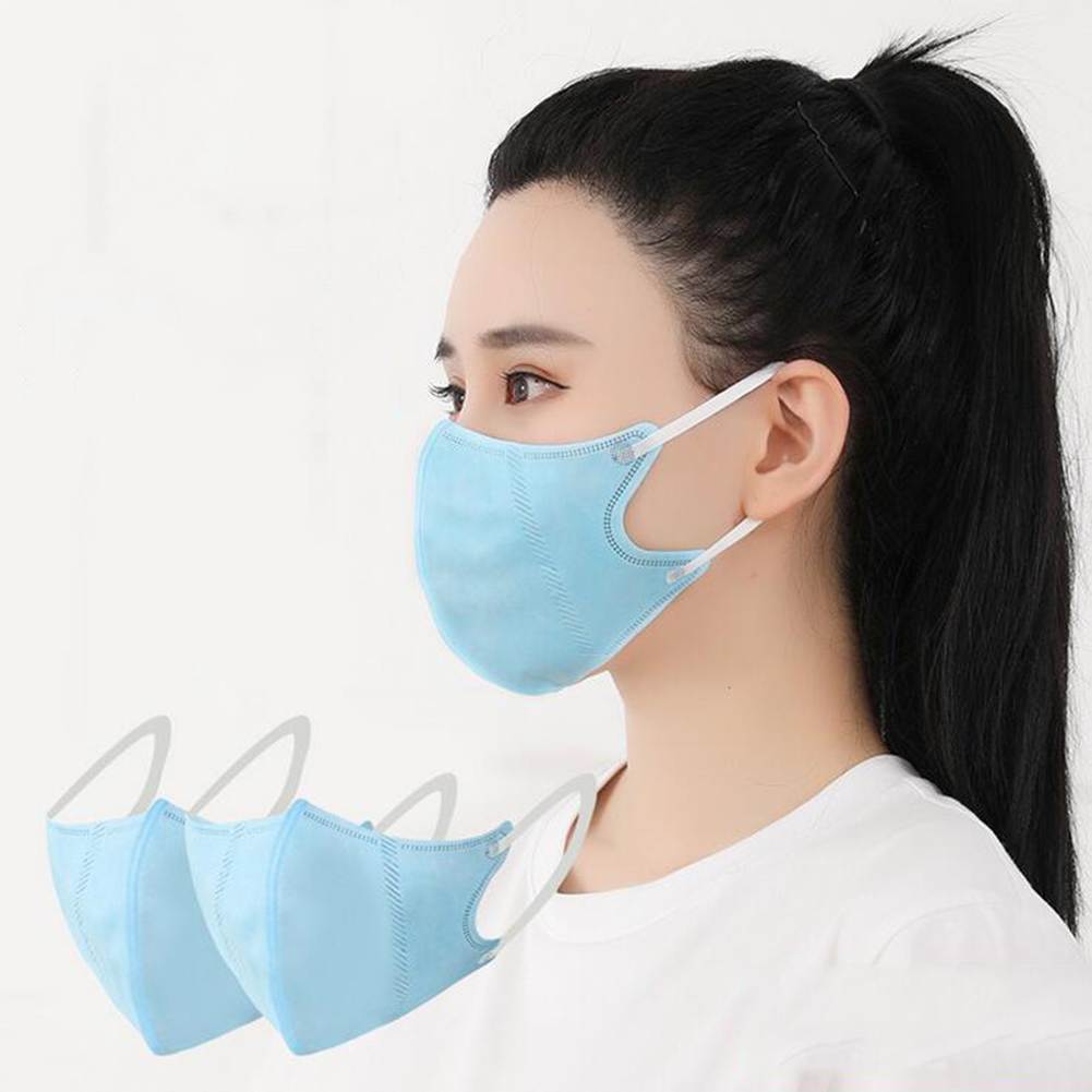 1pcs Men Women Adult Non-woven Mask Breathable PM2.5 Dust Proof Mask Mouth Mask Mouth Mask Muffle Bacteria Proof Flu Face Masks